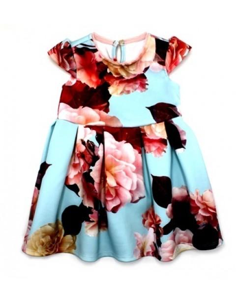 George Girls Floral Peplum Dress