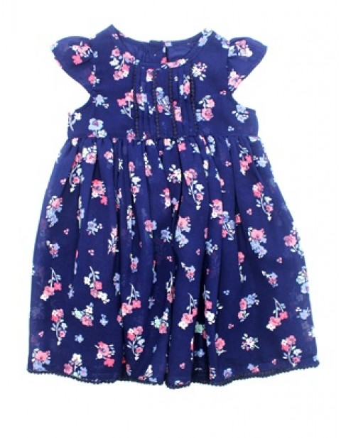 George Girls Blue Floral Design Dress