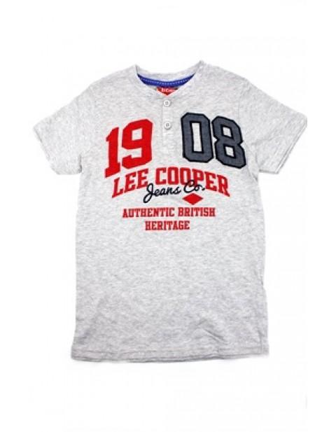 Lee cooper 1908 Kids Button Neck Tshirt