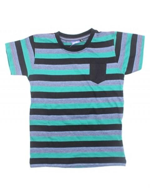 Lupilu Stripe Kids Tshirt-Green