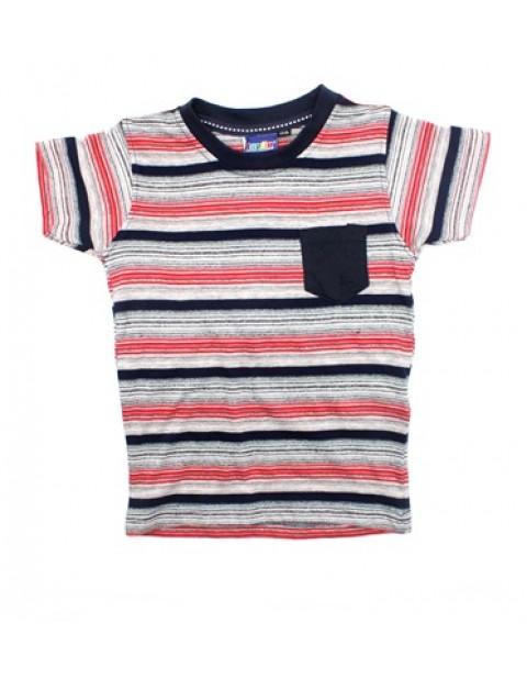 Lupilu Stripe Kids Tshirt-Red