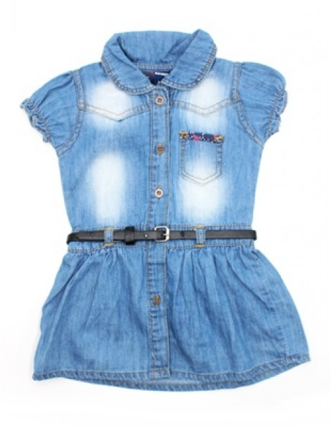 Old Navy Baby Girl Denim Gown With Belt