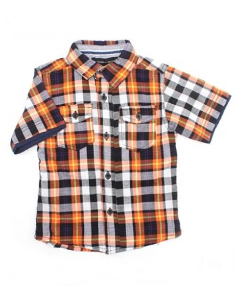 Tommy Hilfiger Double Pocket Design Kids Shortsleeve-Orange