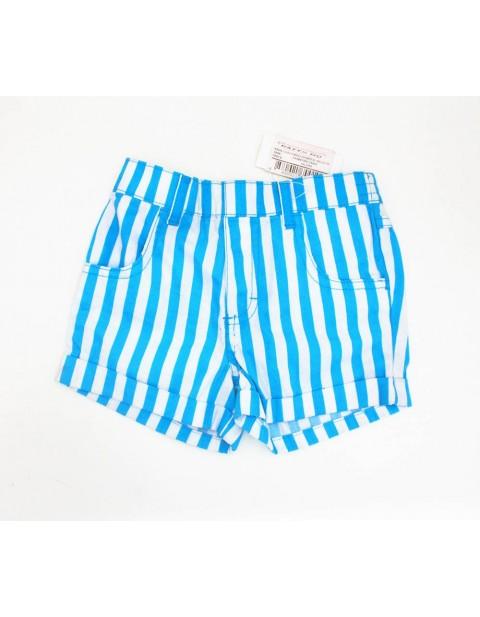 Kids Bump Short-Blue & White Stripped