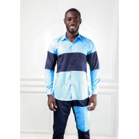 BH Navy Casual Shirt With Western styled pocket pant