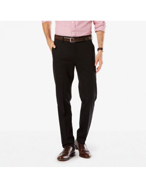 Dockers Signature Straight Fit Khaki Chinos-Black