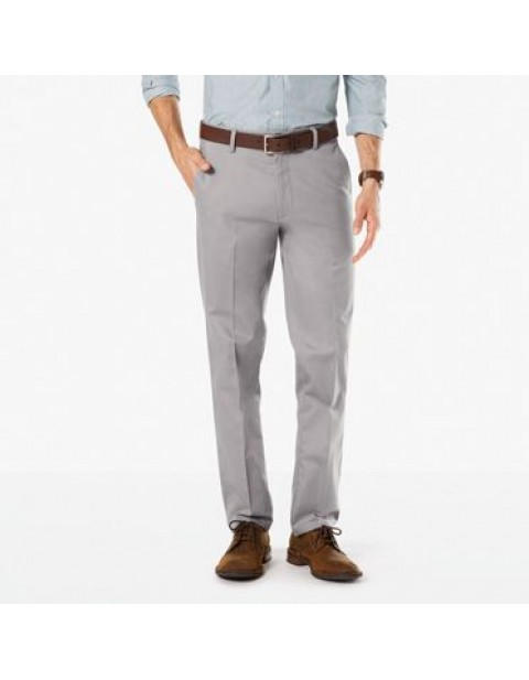 Dockers Signature Straight Fit Khaki Chinos-Burma Grey
