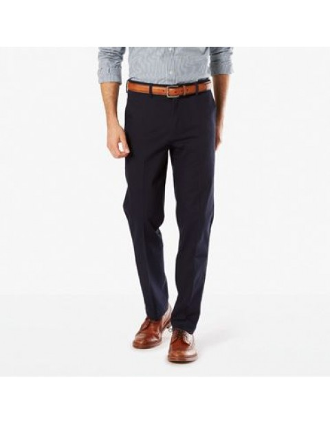 Dockers Signature Straight Fit Khaki Chinos-Navy Blue