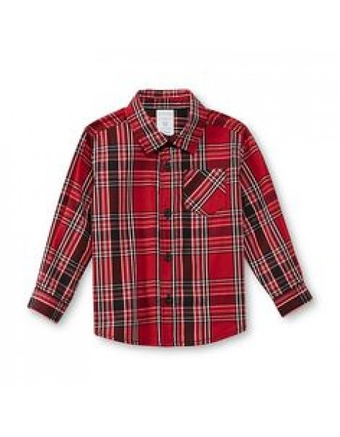Holiday Edition Kids Longsleeve Shirt in Check-Red