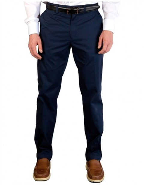Tailor Byrd Classic Fit Khaki Chinos-Navy Blue