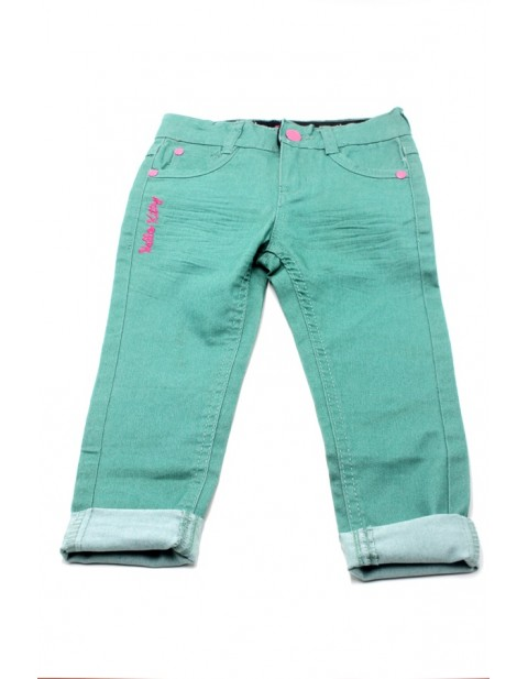 Hello Kitty Female Jeans For Kids-Mint Green