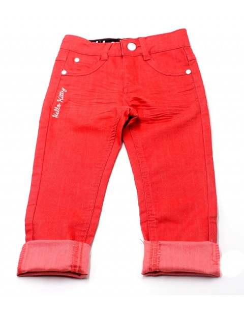 Hello Kitty Female Jeans For Kids-Orange