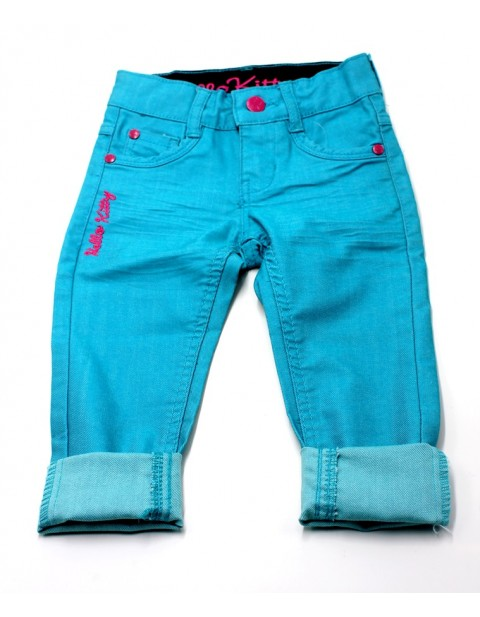 Hello Kitty Female Jeans For Kids-Torquoise Green