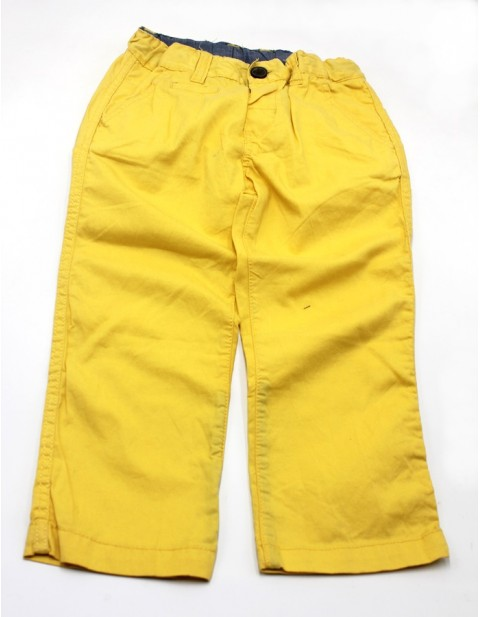 H&M Male Kids Slim Fit Chinos-Yellow