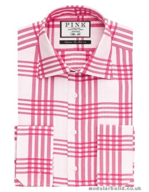 Thomas Pink Mears Check Slimfit Dress Shirt