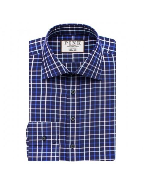 Thomas Pink Meyers Check Slimfit Button Cuff Shirt