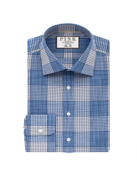 Thomas Pink Oliver Check Slimfit Button Cuff Shirt