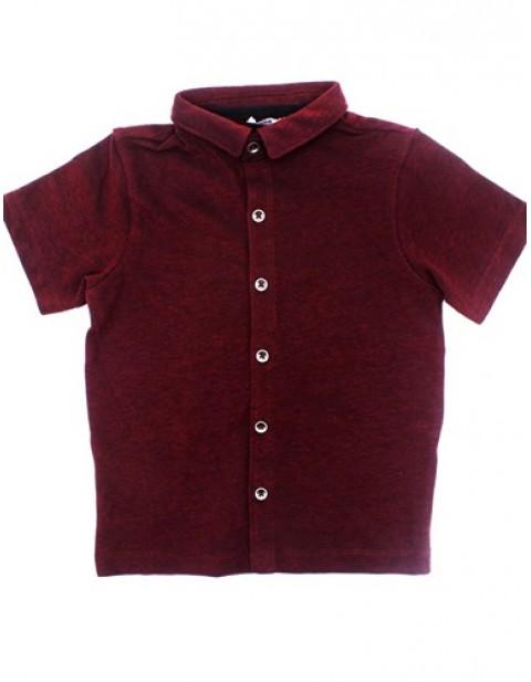 George Wine Colour Cotton Polo Shirt