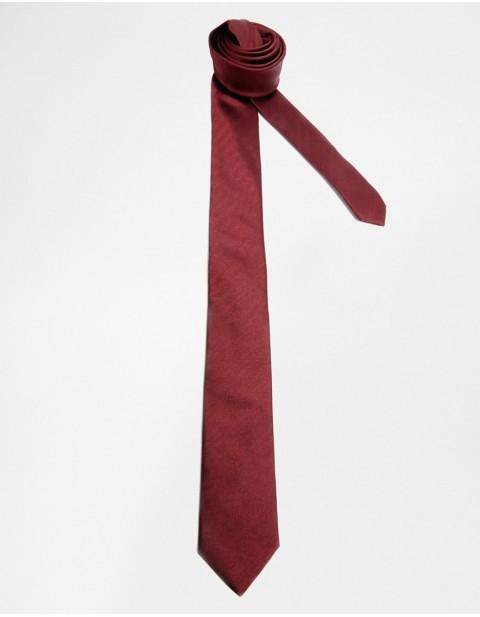 Silk Tie in Burgundy