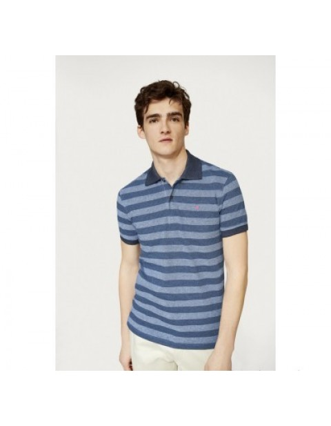 PURIFICACION BLUE STRIPED POLO SHIRT