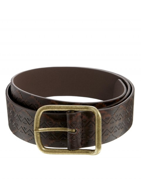 Jeans Belt with Aztec Emboss