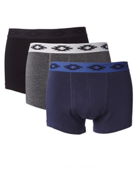 3 Pack Trunks With Aztec Waistband