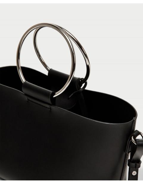 MINI TOTE BAG WITH METAL HANDLES