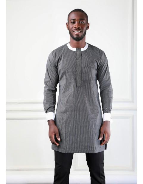 bh grey and black stripe tunic