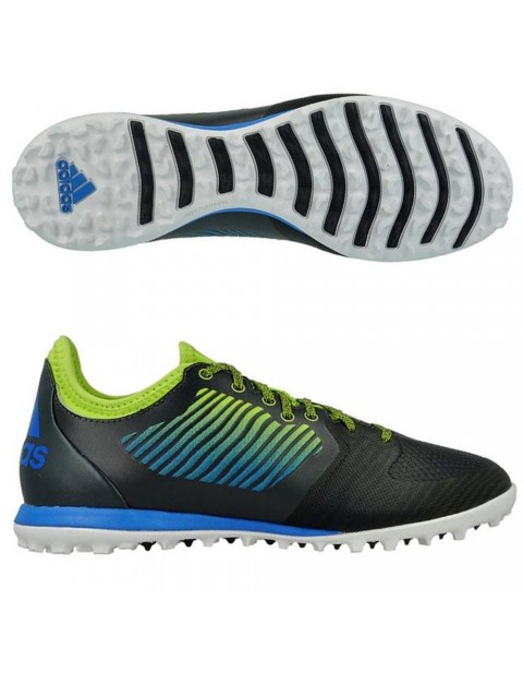 adidas Cage TF Dark Grey Shock Blue Semi Solar Slime