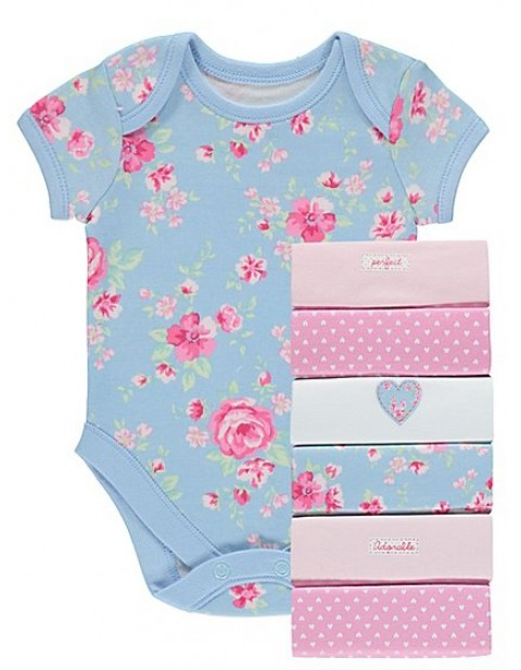 Seven Pack Assorted Bodysuits