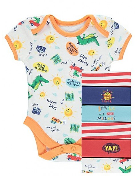 SEVEN Pack Assorted Bodysuits MULTI