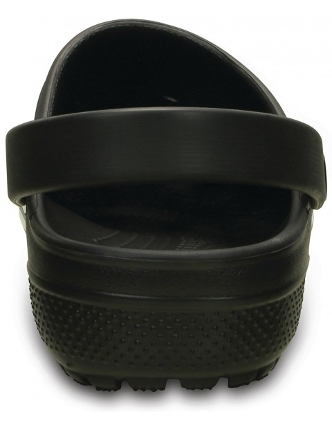 black crocs with front line
