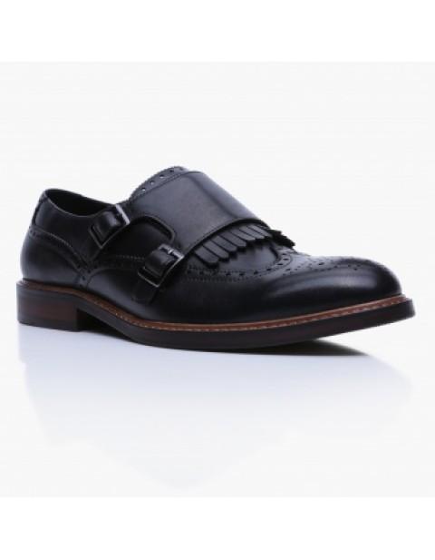 elle homme black monk shoe