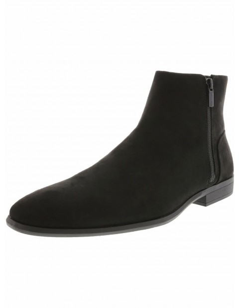 CALVIN KLEIN MEN'S LAREDO HIGH TO SUEDE BOOT WITH TWO SIDE ZIPS