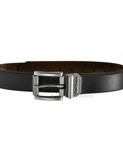 ECKO UNLTD BONDED LEATHER BELT BLACK/BROWN REVERSIBLE