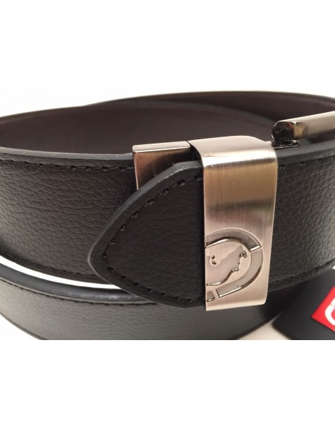 ECKO UNLTD LEATHER BLACK/BROWN REVERSIBLE BELT