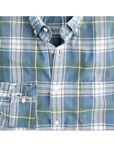 JCREW Stretch Secret Wash cotton poplin shirt in plaid