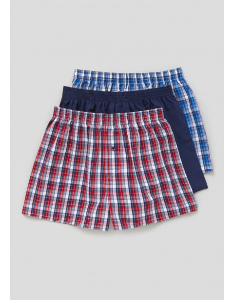MATALAN THREE Pack Woven Boxers red