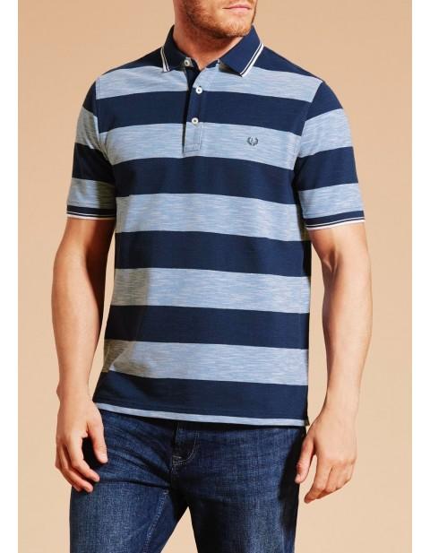 Lincoln Stripe Polo Shirt Navy