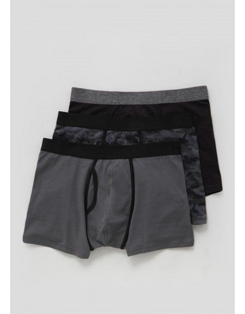 Matalan Three Pack Camouflage Boxers Grey