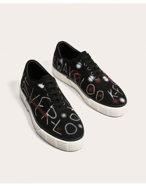 BLACK GRAFITTI PLIMSOLLS