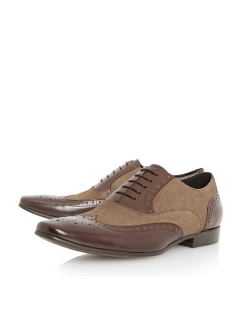 Dune Raymond Combo Men's Shoe in Brown