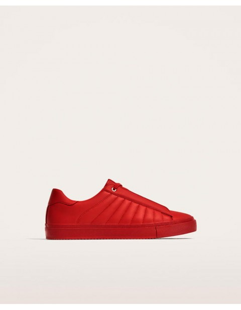 Zara Man Quilted Sneakers - Red