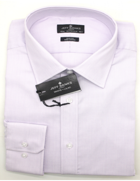 Jeff Banks Big and tall lilac textured tailored fit shirt
