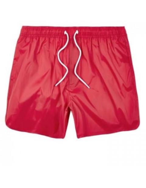 RED PLAIN SWIM SHORTS