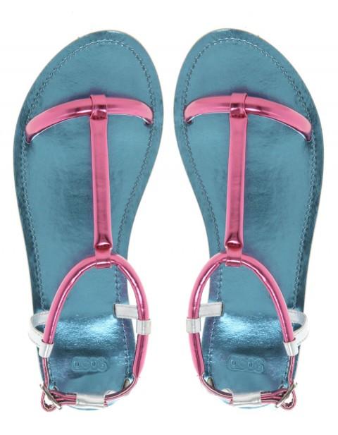 FAREWELL Metallic Flat Sandals