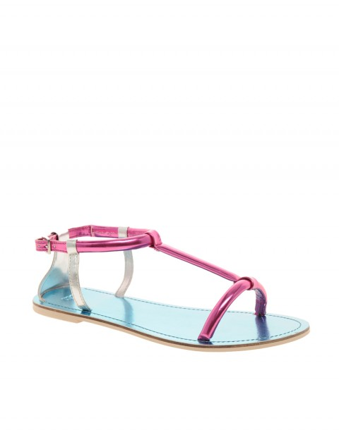 FAREWELL Metallic Flat Sandals