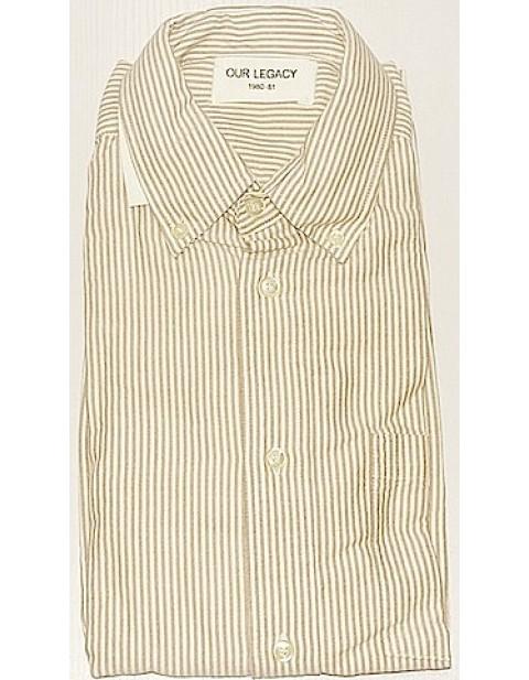 Our Legacy Jumbo Shirt Brown Stripe