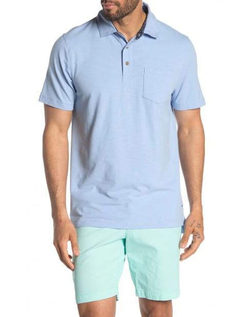 Tailor Vintage Airotec Stretch Slub Jersey Short Sleeve Polo
