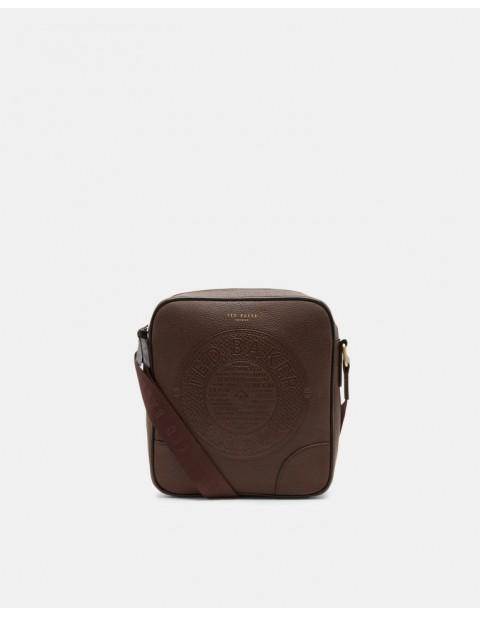 TED BAKER NEW BOSS Embossed messenger bag